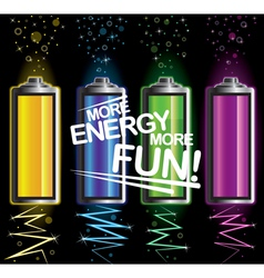 Battery fun energy vector