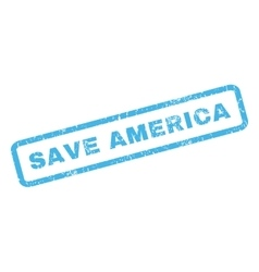 Save america rubber stamp vector