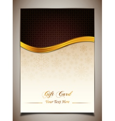 Brown gift card vector image