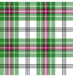 Green white pink tartan plaid seamless pattern vector