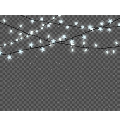 Glowing christmas lights vector