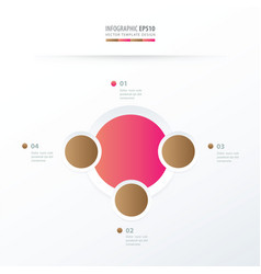 Circle overlap design pink and sugar color vector