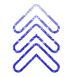Triple pointer up grunge textured icon vector
