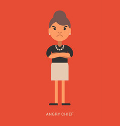 Expressions and emotions angry chief angry vector