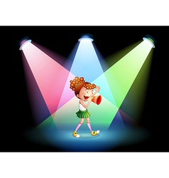 A cheerleader in the stage vector image