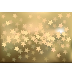 Golden festive lights in star shape background vector