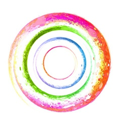 Watercolor spiral grunge vector