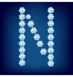 vector diamond alphabet lette n vector image