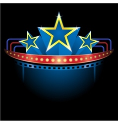blockbuster with stars vector image