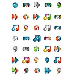 Set of abstract universal web icons business vector