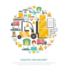 Logistics and transportation concept vector