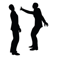 Businessman slap vector