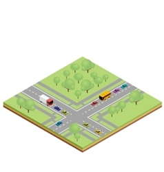 Isometric country crossroads vector
