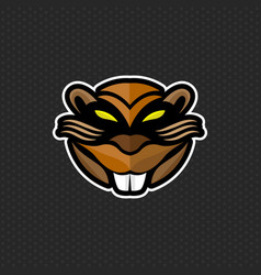 Beaver logo design template beaver head icon vector