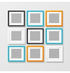 Blank color picture or foto frame for interior vector