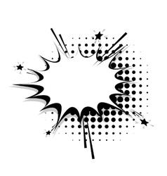Blank template comic speech star bubble line vector