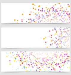 Bright colorful splatter dot pattern card vector image vector image