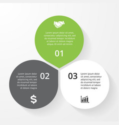 Business circle infographic diagram presentation 3 vector image vector image
