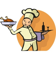 chefs profession vector image vector image