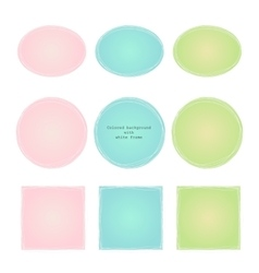colored texture with gradient white frame vector image vector image