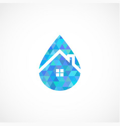 drop house vector image