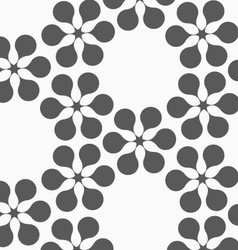 Flat gray with flower forming grid vector image