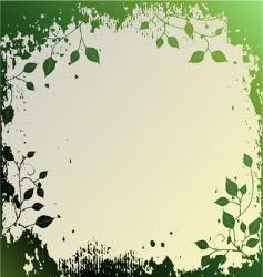 Floral background ornament leaves vector