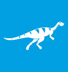 Gallimimus dinosaur icon white vector