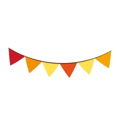 garlands party isolated icon vector image vector image