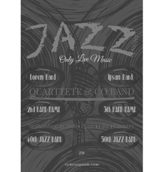 jazz rock or blues music poster template vector image vector image