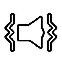 Line sound vibrate mode speaker icon vector