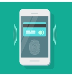 Mobile phone payment security credit card vector