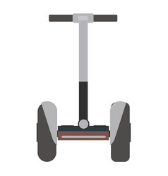 mono wheel isolated roller scooter vector image vector image