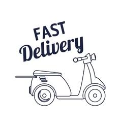 Motorcycle delivery service icon vector