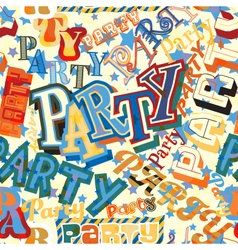 Party tile vector image