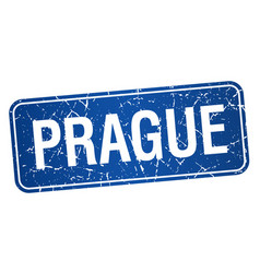 Prague blue stamp isolated on white background vector