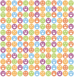 smile icon seamless pattern vector image vector image