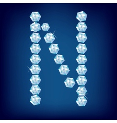 vector diamond alphabet lette n vector image
