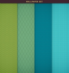 Wallpaper patterns and texture background set vector image vector image