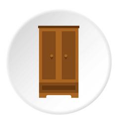 Wardrobe icon circle vector