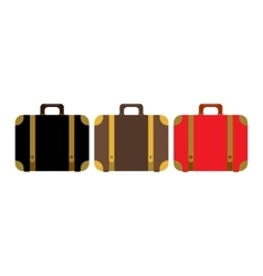 Suitcase set icon flat design style modern vector