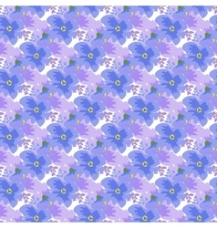 Ditsy pattern with flowers vector