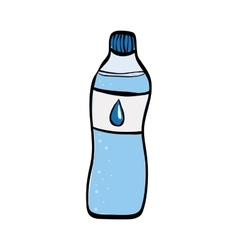 Natural water bottle vector