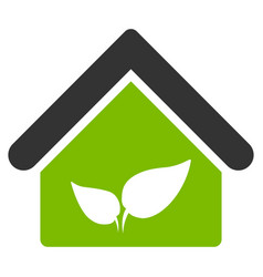 Greenhouse flat icon vector