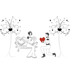 women and men in love vector image