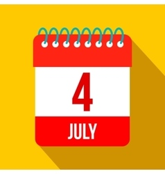 4 july calendar independence day usa flat icon vector