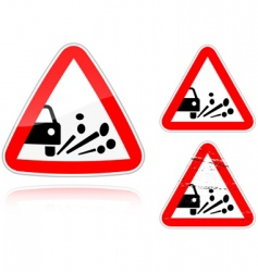 gravel road sign vector image