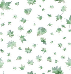 Seamless pattern of autumn leaves vector