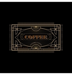 Vintage victorian western frame coffee label vector