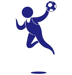 Sport icon for handball in blue vector